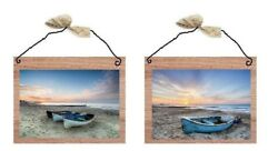 💗 Beach Pictures Sail Boats Water Ocean Beach Sunset Wall Hangings Plaques