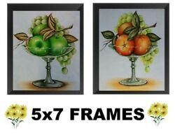 💗 5x7 Green Apple amp; Orange Pictures Fruit Kitchen Decor Wall Hangings $8.99