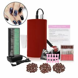 Cordless Rechargeable Electric Nail Art Drill File Manicure Machine Kit 30000RPM