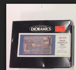 Custom Dioramics French Commercial Signs 1:35