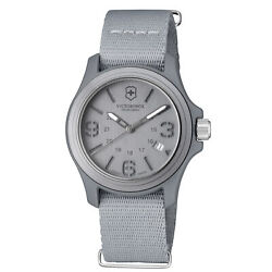 Victorinox Original Grey Men#x27;s Quartz Military Watch 241515 $55.85