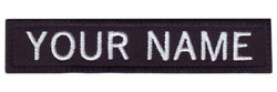 Military Rectangular 3quot; to 6quot; x 1quot; Personalized Embroidered Name Text Tag Patch $6.75
