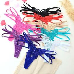 ☆USA☆ Sexy Womens Lace V-string Panties Thongs G-string Lingerie Butterfly hot 2 $5.97
