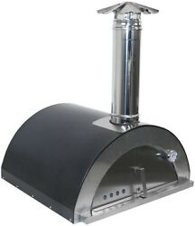 Necessories 32 Wood Burning Outdoor Pizza Oven Quick Assembly Stainless Steel