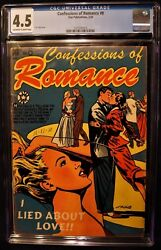 CONFESSIONS OF ROMANCE #8 (STAR '54) SCARCE! BEAUTIFUL LB COLE CVR ART! CGC 4.5!
