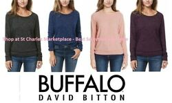 NEW Buffalo Women#x27;s Long Sleeve Cozy Pullover Shirt Pick Color and Size NEW $13.49