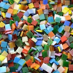 Lanyani 800 Pieces Mosaic Tiles Stained Glass - Assorted Colors for Art Craft