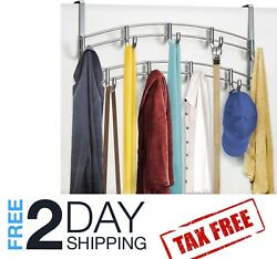 Cloth Hanging Stand Rack Wall Over the Door Clothing Scarf Hat Hanger 9 Hooks $29.98