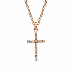 Womens Ladies Fashion Accessories Jewelry Rose Gold Plated Crystal Necklace