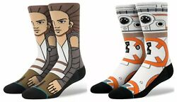 Stance STAR WARS SOCKS Large 9 12 REY BB 8 BB8 AWAKENED THE FORCE AWAKENS 2PACK $22.99