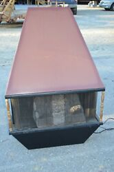 Vintage Electric Fireplace Wall Hang Thermostat Brown Paint Screen