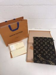 SUPREME X LOUIS VUITTON MONOGRAM CASHMERE SCARF RARE LIMITED EDITION MP1891