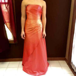 Jump Apparel Strapless Orange Prom Gown SIZE 2