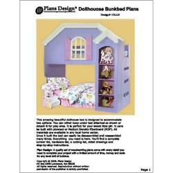 Children's Project Plans Dollhouse Loftbunk Bed Woodworking -Design 1DLLH
