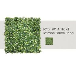 Privacy 20quot; x 20quot; Artificial Jasmine Fence Greenery Panel Wall for Outdor Indoor $49.49