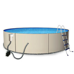 Vinyl Liner Rugged Steel Series 24-ft x 24-ft x 52-in Round Above-Ground Pool