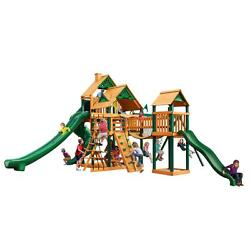 Pre-Sanded Cedar 156-in Plastic Coated Swing Set with Timber Shield Playset