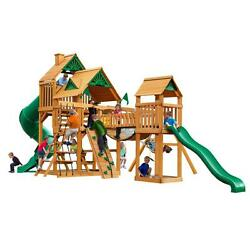 Cedar Ready to Assemble Treasure Trove with Amber Posts 800-lb Capacity Playset