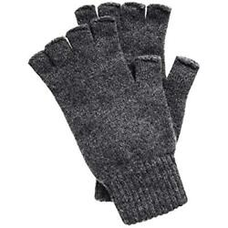 Men's Fingerless Cashmere Gloves Made Scotland (Derby Gray) At Mens Clothing