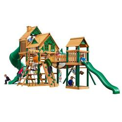Cedar 800-lb Load Capacity Treehouse Swing Set with Timber Shield Playset