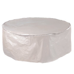 Abba Patio Outdoor Round Table and Chair Set Cover Porch Furniture Cover Beige