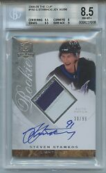 STEVEN STAMKOS 08-09 UD CUP #150 Rookie Auto 3 CLR Patch 3099 BGS 8.5 NM-MT+