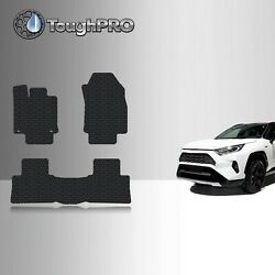 ToughPRO Floor Mats Black For Toyota RAV4 All Weather Custom Fit 2019 2021 $69.95