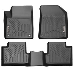 OEDRO Floor Mats Fit for 2016-2019 Jeep Cherokee Full Set Liners Unique TPE
