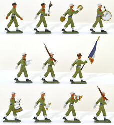 Starlux French Foreign Legion Band Complete set of 11 60mm Painted Toy Soldiers