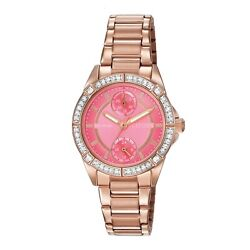 Citizen Eco-Drive Women's POV Crystal Accents Rose Gold-Tone Watch FD3003-58X $74.99