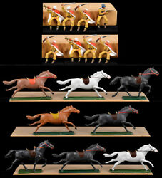 Starlux 8 Mounted Foreign Legion Troopers 60mm painted Toy Soldiers horses vary
