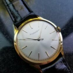 IWC Men's 18K Solid Gold Manual Hand-Wind Dress Watch c.1970s Swiss Luxury MS105