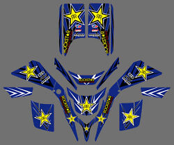 ATV Wrap Full Race Kit Decals Graphics For Yamaha Blaster 200 YFS 200 1988-2006