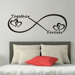 LOVE Heart Together Forever Bedroom Wall Sticker For Home Decoration Wall Decal $9.19