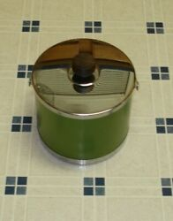 Vintage Kromex Ice Bucket Stainless Steel and Green Made in USA