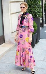 Gucci Garden Pink Print Crepe Dress- With Tags- RRP$13900