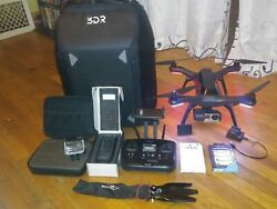 3DR Solo with gimbal and gopro4blackback packext new battery and more