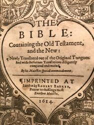 16131614 King James SHE Bible RARE UNKNOWN COPY Not found in Herbert Guide