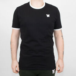 Mens Good For Nothing Ringer Black T-Shirt (GFN5) RRP £29.99