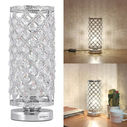 Crystal Table Lamp Bedside Nightstand Desk Reading Lamp Bedroom Living Room $23.30