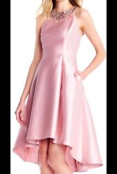 Adrianna Papell Blush pink peach Color Classy Cocktail Dress Regular Size 2 $250.00