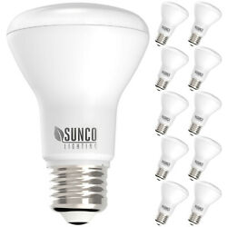 Sunco 10 Pack BR20 Flood Dimmable LED Light Bulb 7W 50W 6000K Deluxe Daylight $27.99