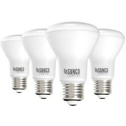 Sunco 4 Pack BR20 Flood Dimmable LED Light Bulb 7W 50W 6000K Deluxe Daylight $16.99