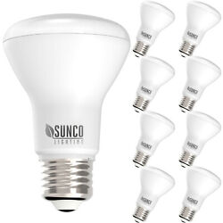 Sunco 8 Pack BR20 Flood Dimmable LED Light Bulb 7W 50W 6000K Deluxe Daylight $25.99