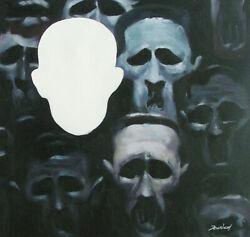 ROOM FOR ONE LESS OF NIGHT GALLERY HAND OIL PAINTING $198.00