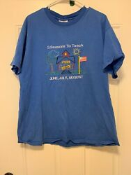 Vintage Novelty Teacher T Shirt Summer Vacation XL Made In The USA $10.99