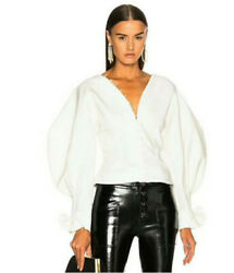White lanterns sleeve white blouse new with tags small and medium in stock $40.00