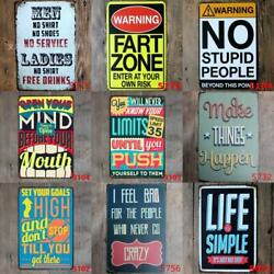 Metal Tin Funny Quote Men Wall Home Art Retro Decor Bed Room Sign Poster Vintage $8.29