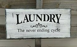 LAUNDRY room wood sign farmhouse farm rustic country family wooden funny laundry $16.99