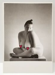 Nude Exotic Photo Art Unlimited or Postcard Plus Size Woman Innocently Posed